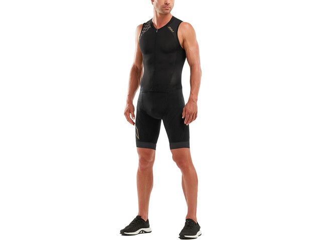2XU Compression Full Zip Trisuit Men black/gold